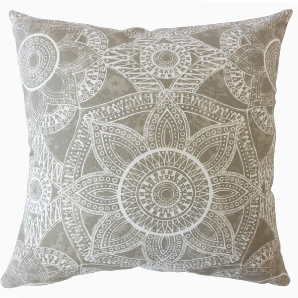 Nakia Graphic Throw Pillow Driftwood