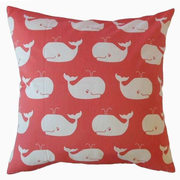 Laibah Graphic Throw Pillow Coral