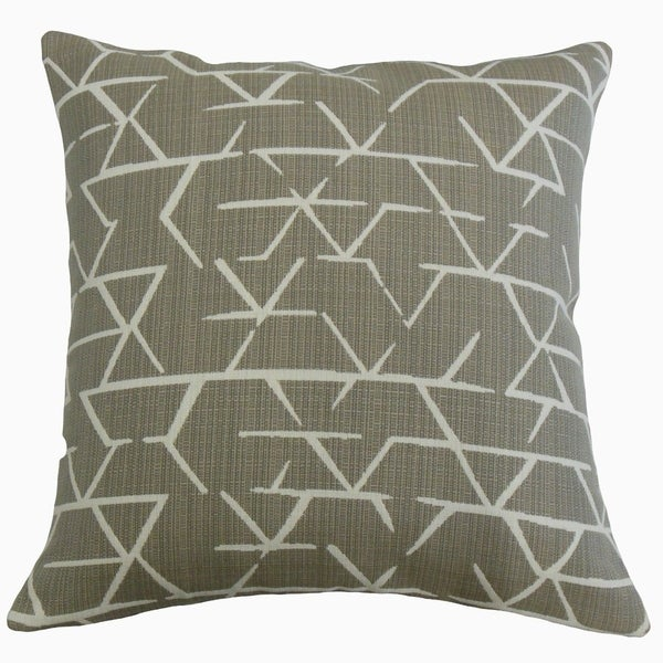 Umatilla Geometric Throw Pillow Taupe