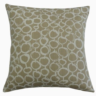 Velisa Geometric Throw Pillow Oak