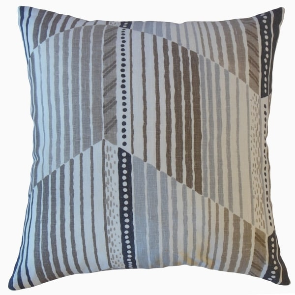 Parkin Stripes Throw Pillow Portobello