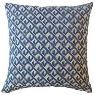 Tadewi Crewel Throw Pillow Denim