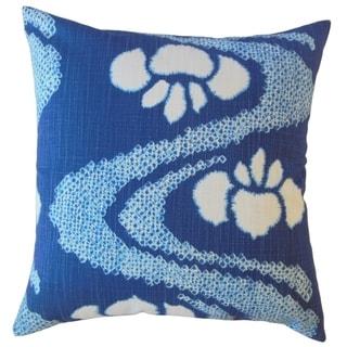 Panchali Ikat Throw Pillow Lapis