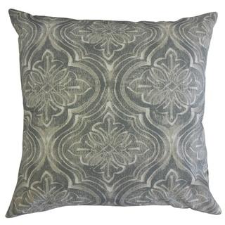 Quilla Damask Throw Pillow Seasalt