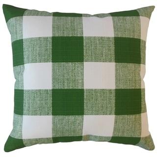 Oormi Plaid Throw Pillow Herb