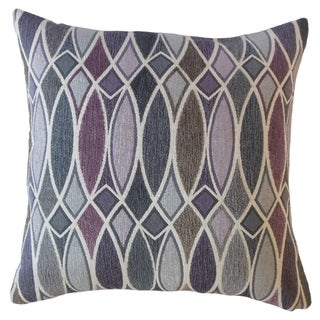 Abiel Geometric Throw Pillow Orchid