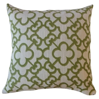 Dargiana Geometric Throw Pillow Wasabi
