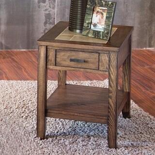 Baron Traditional Wood Chairside Table