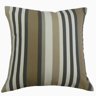 Tamber Striped Throw Pillow Pewter