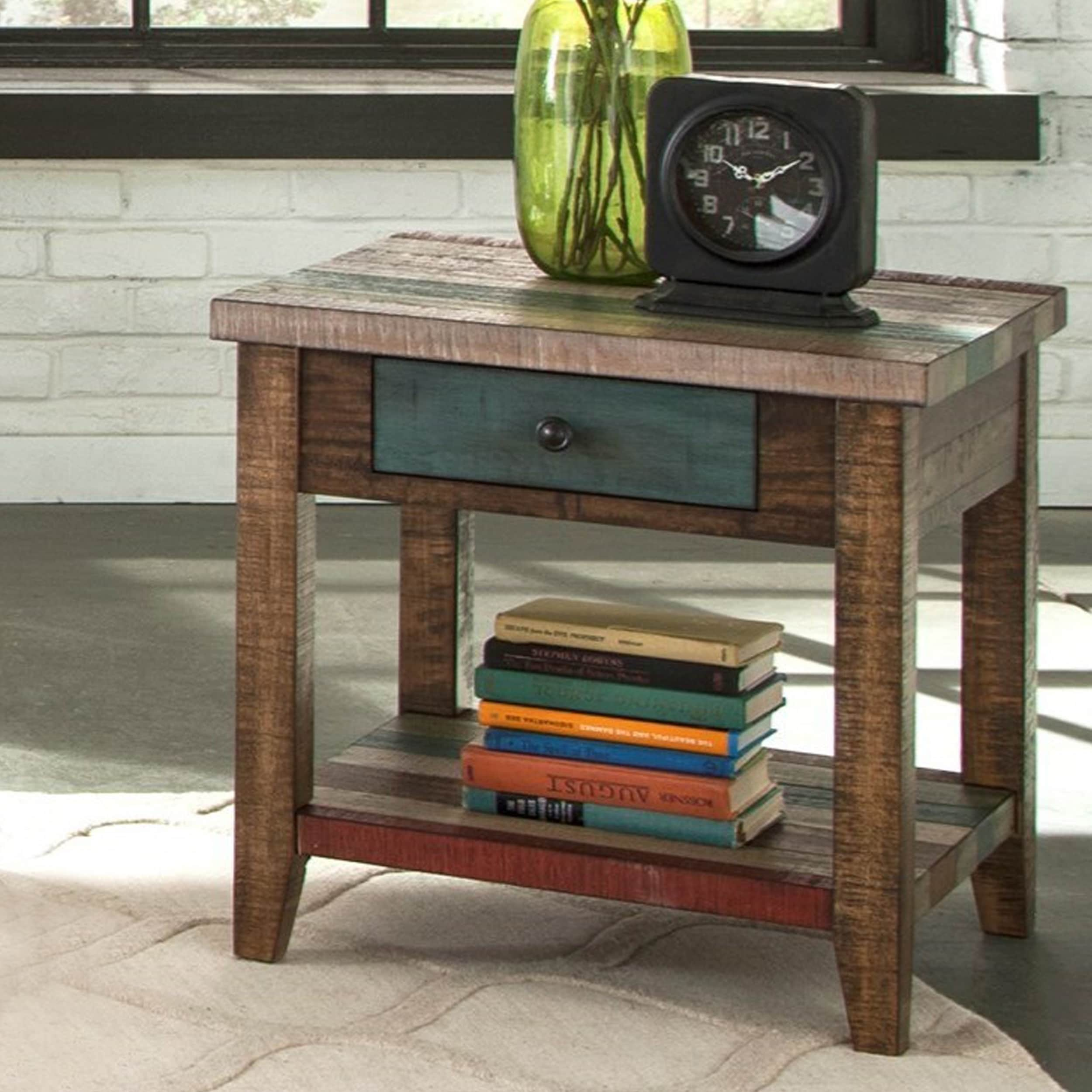 Super Maren Coastal End Table Gmtry Best Dining Table And Chair Ideas Images Gmtryco