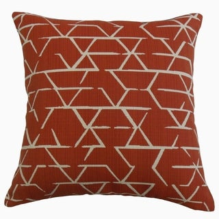 Umatilla Geometric Throw Pillow Brick
