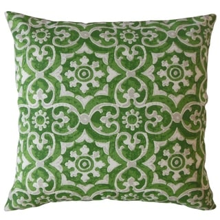 Parmida Damask Throw Pillow Herb