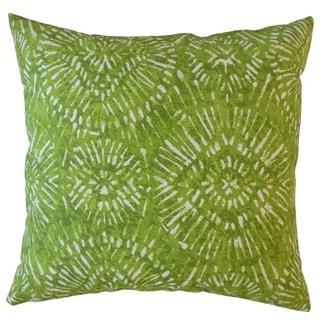 Umed Ikat Throw Pillow Greenery