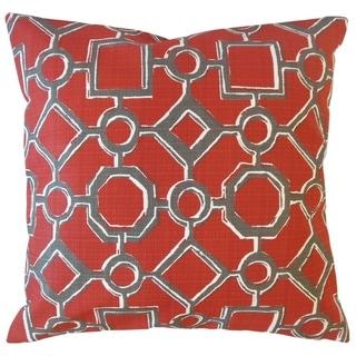 Wenda Geometric Throw Pillow Sangria