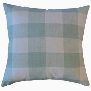 Jaspen Plaid Throw Pillow Snowy