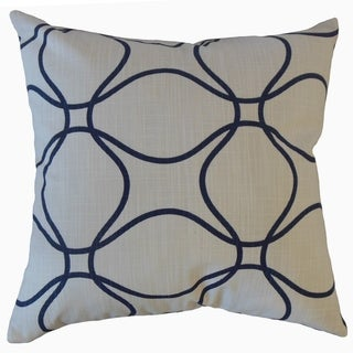 Lalage Geometric Throw Pillow Italian Denim