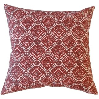 Jarmo Geometric Throw Pillow Sangria