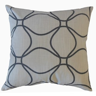 Lalage Geometric Throw Pillow Black