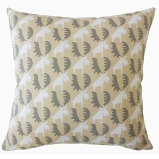 Qayl Graphic Throw Pillow Camel