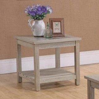 Kings Route Rustic Traditional Chairside Table
