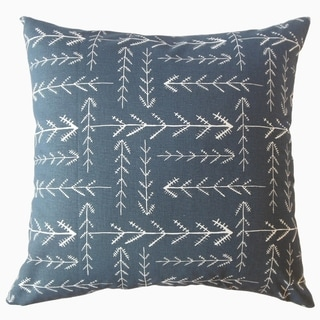 Porch & Den Dorland Blue Geometric Throw Pillow