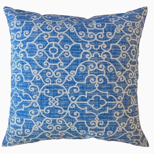 Afia Geometric Throw Pillow Cobalt