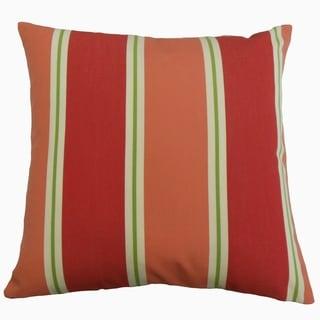 Quiqui Striped Throw Pillow Flamingo