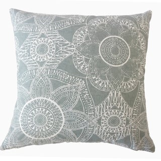 Nakia Graphic Throw Pillow Gray