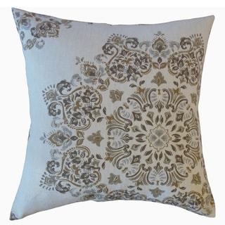 Ohtli Damask Throw Pillow Driftwood