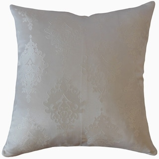 Harding Damask Throw Pillow Beige