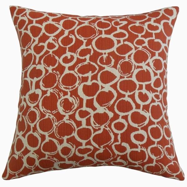 Velisa Geometric Throw Pillow Brick