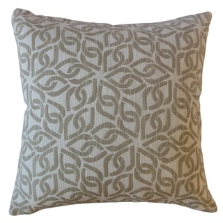 Sabriel Geometric Throw Pillow Ecru