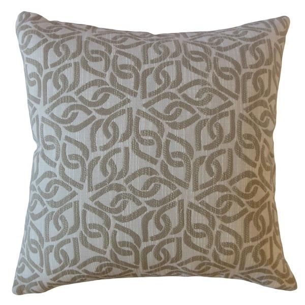 Sabriel Geometric Throw Pillow Ecru