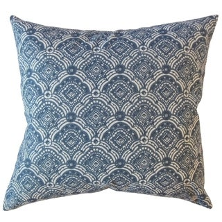 Jarmo Geometric Throw Pillow Slate Blue