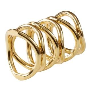 Saro Lifestyle Gia Metal Dinner Napkin Rings (Set of 4)