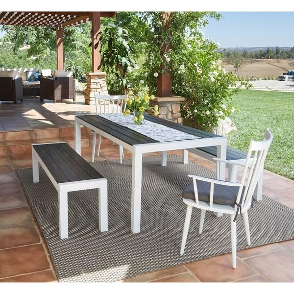 Handy Living Buena Vista 5-piece White Indoor/Outdoor Dining Set