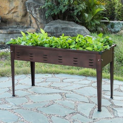 39.5in Metal Rectangular Raised Garden Planter