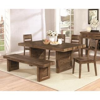 Modern Reclaimed Natural Wood Design Dining Set