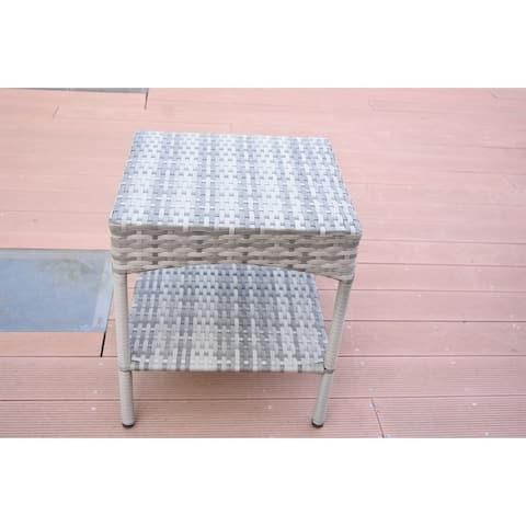 Grey Resin Clark Wicker Clark Side Table(KD)