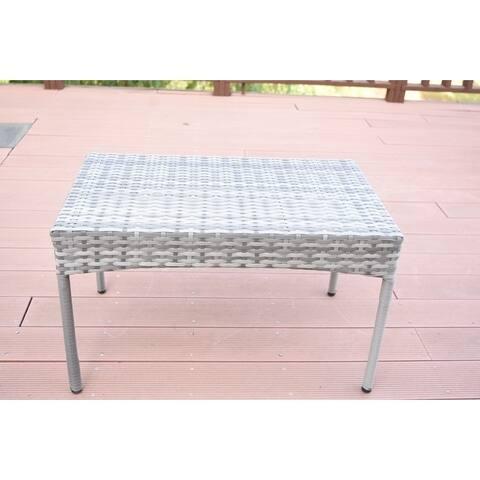 Grey Resin Wicker Clark Coffee Table
