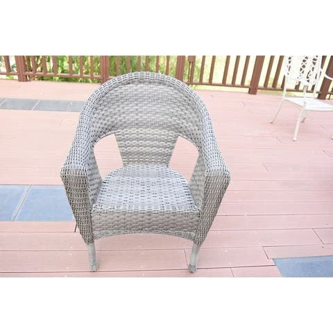 Grey Resin Wicker Clark Single Chair