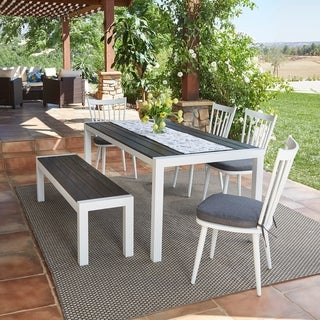 Handy Living Buena Vista 6-piece White Indoor/Outdoor Dining Set