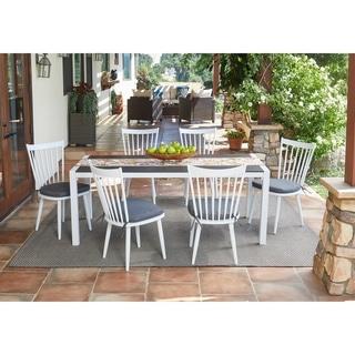 Handy Living Buena Vista 7-piece White Indoor/Outdoor Dining Set