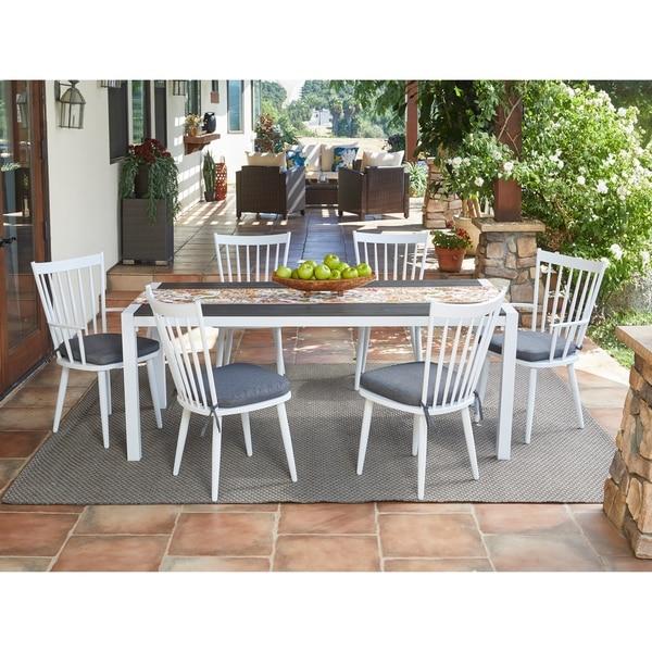 Shop Handy Living Buena Vista 7-piece White Indoor/Outdoor