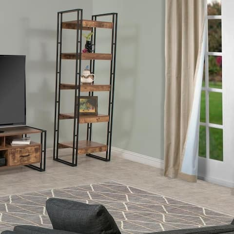 Urban Line Rustic 5-Tier Tower Shelf