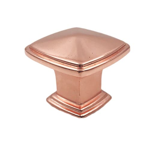 Copper Square Metal Knobs - Set of 6