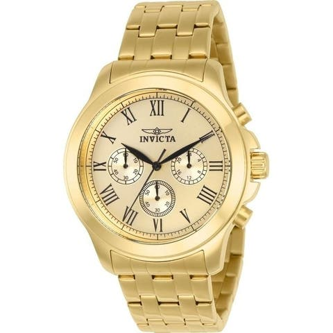 Invicta Men's 21658 'Specialty' Ocean Gold-Tone Stainless Steel Watch