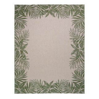 "Avenue 33 Paseo Tropic Border Green Area Rug (7'10"" x 10') by Gertmenian - N/A"