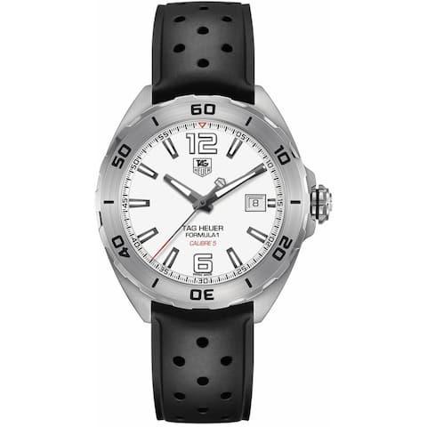 Tag Heuer Men's WAZ2114.FT8023 'Formula 1' Black Rubber Watch