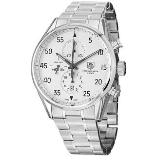 Link to Tag Heuer Men's CAR2015.BA0796 'Carrera Space X' Chronograph Automatic Stainless Steel Watch Similar Items in Men's Watches